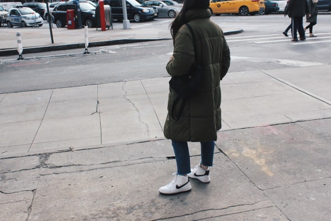 City outerwear look
