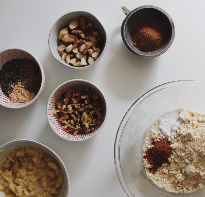 Emily Novak's Flax Nut Banana Bread, Gluten free, Grain Free Recipe