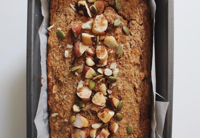 Emily Novak's Flax Nut Banana Bread, Gluten free, Grain Free, Paleo Recipe